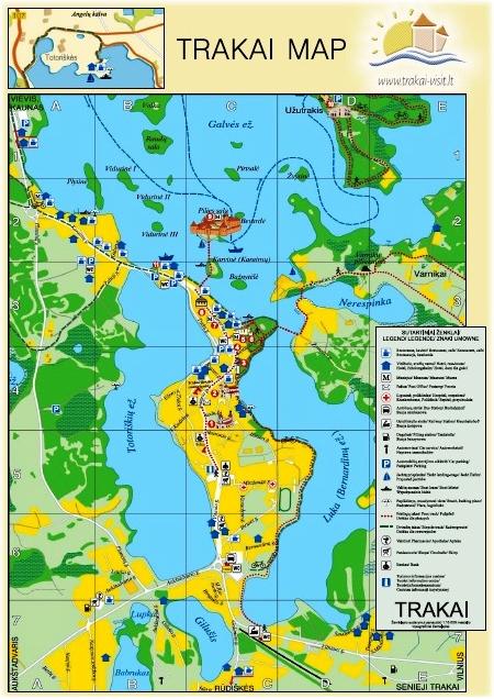 Trakai map